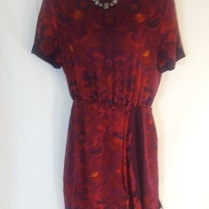 Linda Allard Ellen tracy paisley silk dress 10